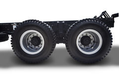 Truck wheels on white Stock Photography