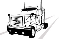 Truck on a white background Stock Photos