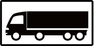 Truck on white background Stock Photography