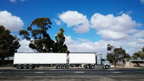 Truck with white cargoes Royalty Free Stock Photo