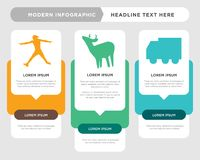 Truck, whitetail buck, ninja warrior infographic. Truck business infographic template, the concept is option step with full color icon can be used for whitetail Royalty Free Stock Photos