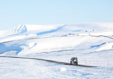 Truck in Winter stock photography