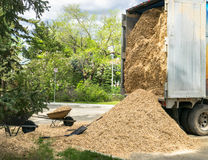 Truck of wood chips Stock Images