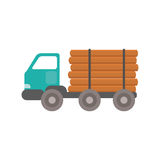 Truck wood transportation vector. Stock Photo