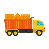 Truck with wooden box Stock Image