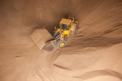 Truck with wooden granules Stock Image