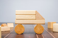 Truck wooden toy blocks Stock Image