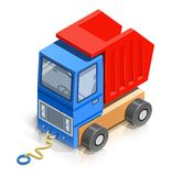 Truck. wooden toy Stock Photography
