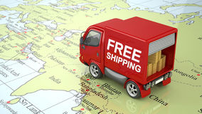 Truck on World Royalty Free Stock Image