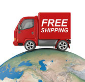 Truck on world Royalty Free Stock Images