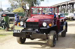 Truck. This World War 2 Dodge 4x4 with winch has been restored and is no longer Amy camouflage colour. It is on its way to take part in the Grand Parade at the Royalty Free Stock Image