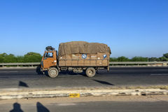 Truck on the Yamuna Expressway Stock Images
