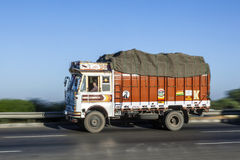 Truck on the Yamuna Expressway Royalty Free Stock Photos