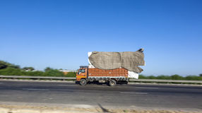 Truck on the Yamuna Expressway Royalty Free Stock Photo