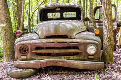 Truck with Yellow and Red Lights Royalty Free Stock Photos