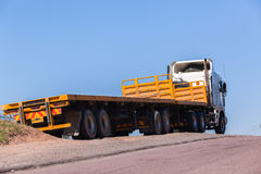 Truck Yellow Trailers Royalty Free Stock Images