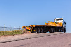 Truck Yellow Trailers Stock Photos