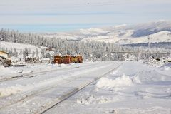 Truckee California Railroad Stock Photo
