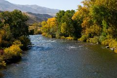 Truckee Fluss im Fall Stockfoto