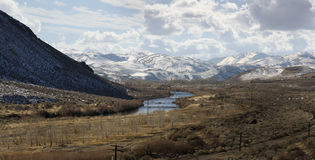 Truckee Fluss nahe Reno Lizenzfreie Stockfotos