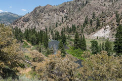 Truckee River Canyon west of Reno Stock Image