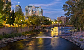 Truckee River in Reno Royalty Free Stock Image