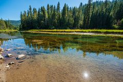 Truckee River Scenery. Truckee River Summer Scenery near Lake Tahoe, California, USA Stock Image
