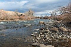 Truckee River Royalty Free Stock Photos