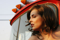 Trucker Beauty Royalty Free Stock Photo