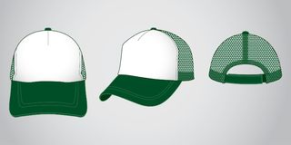 Trucker cap for template stock illustration