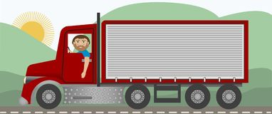 The Trucker Stock Photos