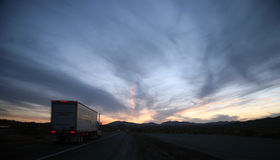 Trucker highway Stock Images
