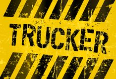 Trucker sign Stock Photo