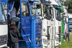 Truckfest 2017 line of very clean show trucks Royalty Free Stock Image