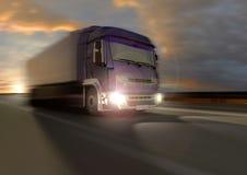 Truckin an der Dämmerung Stockfotografie