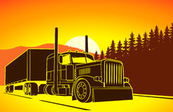 Trucking. big car on the road. On the image  is presented trucking. big car on the road Stock Images
