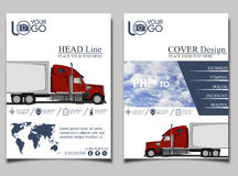Trucking. Flyer design template . royalty free illustration