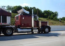 Trucking Freight. Semi Truck, trucking down the highway Stock Photography