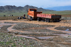 Trucking industry in Mongolia Stock Photography