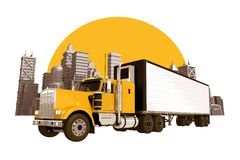 Trucking Industry Skyline Stock Photo