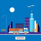 Trucking industry Truck transportation concept Modern flat design. Vector illustration royalty free illustration