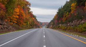 Trucking on Interstate 65 in Kentucky. During autumn Stock Image