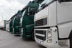 Trucking and logistics Stock Image