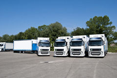 Trucking and logistics Royalty Free Stock Images