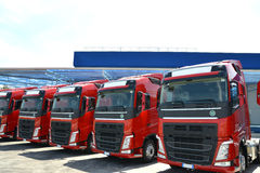 Trucking and logistics Stock Images
