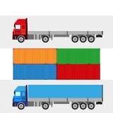 Trucking warehouse  background Royalty Free Stock Photo