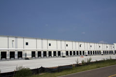 Trucking warehouse construction Royalty Free Stock Image