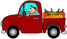 Truckload of pumpkins Stock Photography