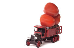 Truckload of tomatoes royalty free stock photos