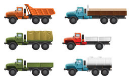 Trucks. Vector color illustration of  military truck .  (Simple gradients only - no gradient mesh Stock Images